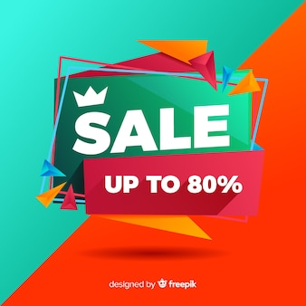 Abstract sales background flat style