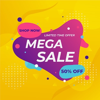 Abstract sales background with colorful elements