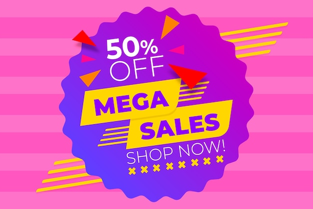 Abstract sales background with mega sales