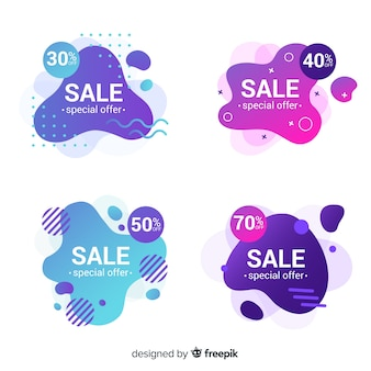 Abstract sales banner template collection
