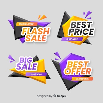 Abstract sales banner templates collection