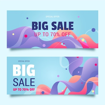 Abstract sales banners set