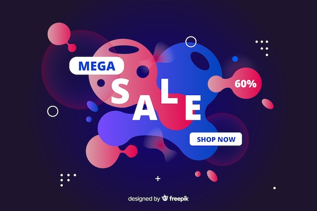 Abstract sales fluid effect background