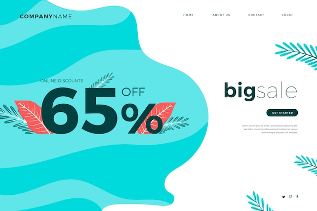 Abstract sales landing page template
