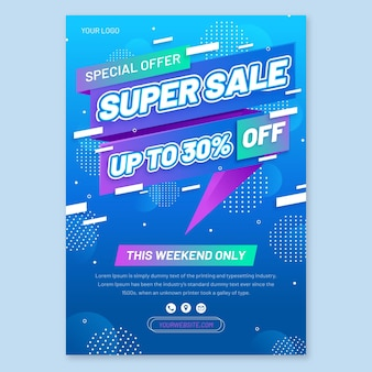 Abstract sales print template