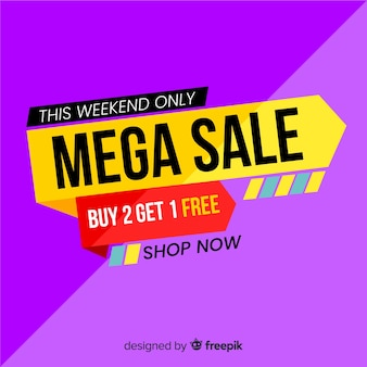 Abstract sales promotion background flat style