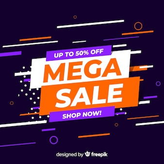 Abstract sales promotion for mega sale
