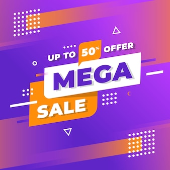 Abstract sales promotion with gradient