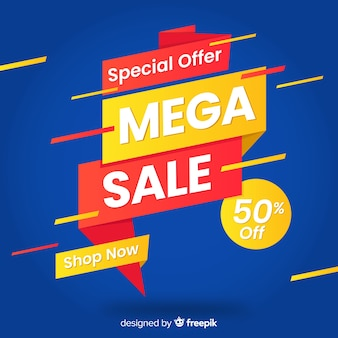 Abstract sales promotion with mega sale