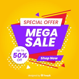 Abstract sales promotion with special offer