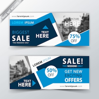 Abstract sales web banner