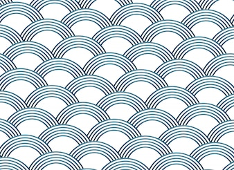 Abstract sashiko style vector pattern