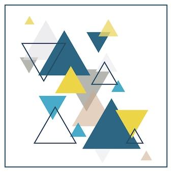 色とりどりの三角形で構成される抽象的なスカンジナビアの背景