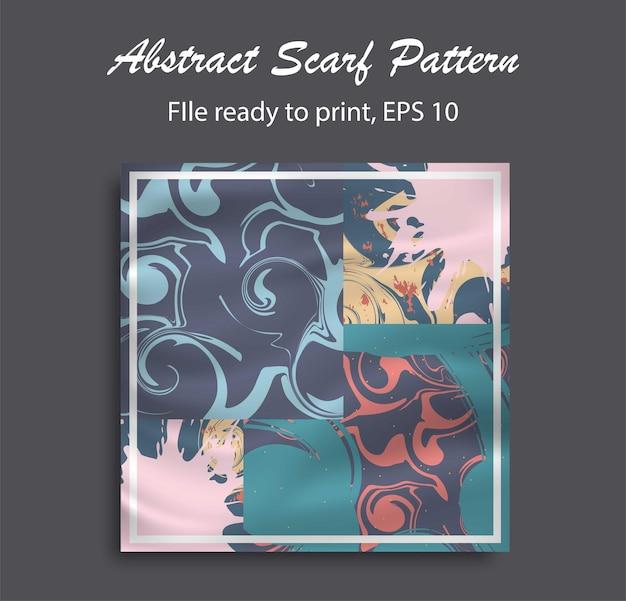 히잡, 블랭킹, 베개 등을 위한 추상 스카프 패턴 디자인