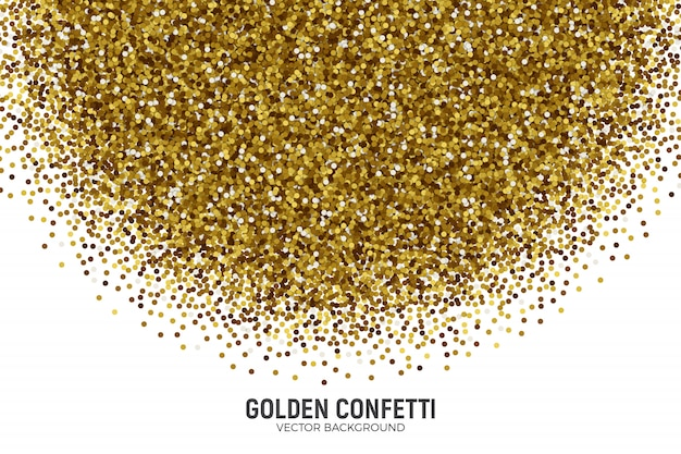 抽象的な散乱金色の紙吹雪白い背景