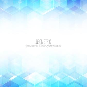 추상 과학 배경입니다. 육각형 기하학적 디자인. 벡터