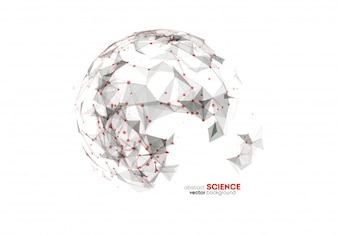 Abstract science background red black