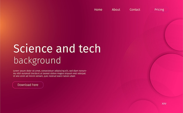 Abstract science and tech landing page
