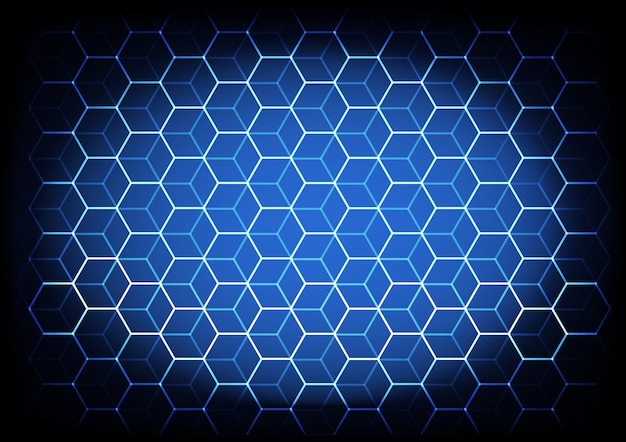 Abstract science and technology concept with hexagonal elements background