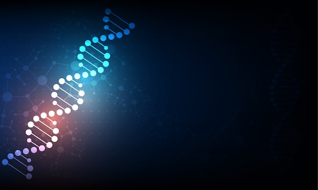 Abstract science wallpaper concept with a dna molecules