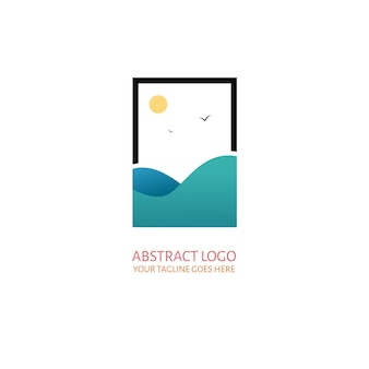 Abstract sea logo