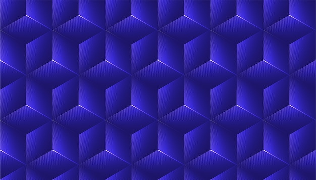 Abstract seamless background with cube decoration.