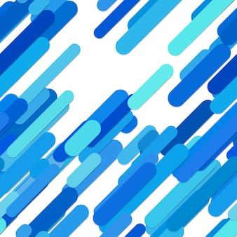 Абстрактный бесшовный хаотичный округлый узор с диагональю полос - графика из линий с различной шириной и длиной