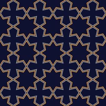 Abstract seamless dark geometric pattern in arabian style
