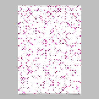 Abstract seamless dot pattern flyer background