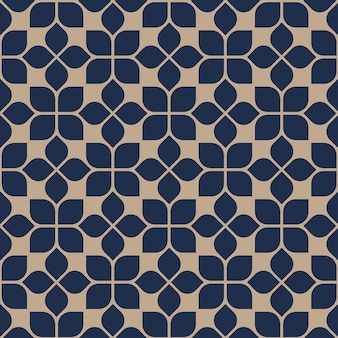 Abstract seamless geometric floral pattern oriental style