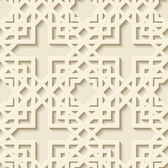 抽象的なシームレスな幾何学模様。アラビアの装飾品、モロッコのパターン。図。