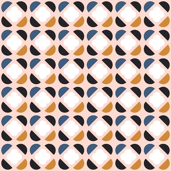 Abstract seamless geometric pattern in scandinavian style.