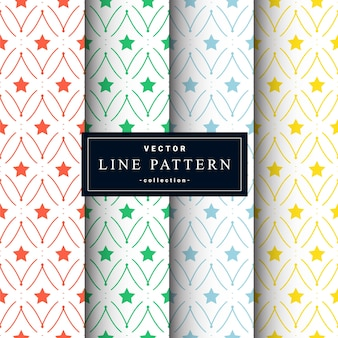 Abstract seamless geometric patterns set in four colors. . wallpaper