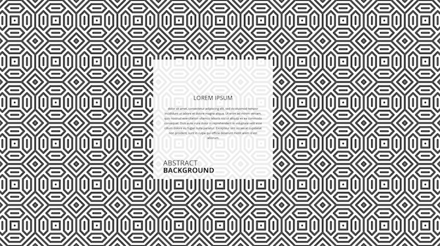 Abstract seamless geometric shape lines pattern