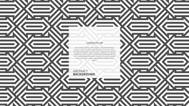 抽象的なシームレスな幾何学的形状のラインパターン