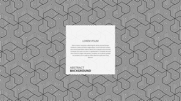 Abstract seamless hexagonal lines pattern