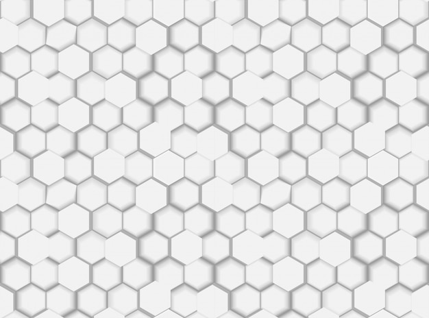 3 dの六角形と色合いの抽象的なシームレスな六角形パターンテクスチャ