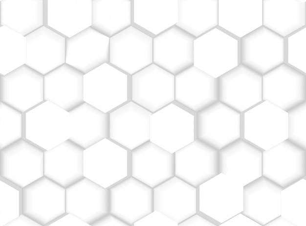 Abstract seamless hexagonal pattern texture with 3d hexagons and shades