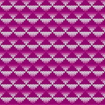 抽象的なシームレスニットパターン。フェアアイルニットセーターデザイン