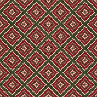 Abstract seamless knitting pattern. christmas sweater design. wool knit texture imitation.