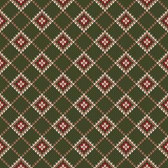 Abstract seamless knitting pattern
