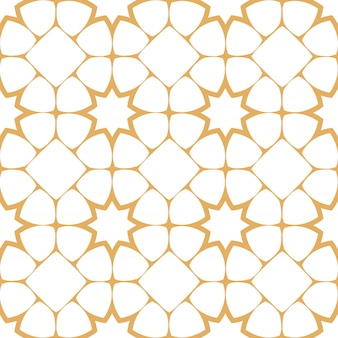 Abstract seamless pattern in arabian style with stylized stars