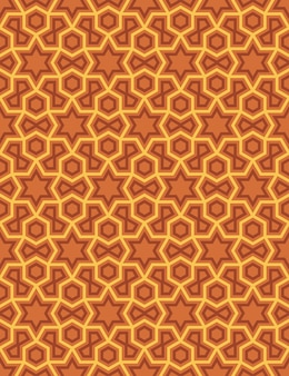 Abstract seamless pattern in arabian style