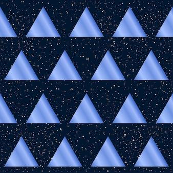 추상 원활한 패턴 배경입니다. 디자인 카드, 초대장, 티셔츠, 책, 배너, 포스터, 스크랩북, 앨범, 섬유 직물, 의류, 가방 인쇄 등을 위한 보라색 그라데이션 색 삼각형