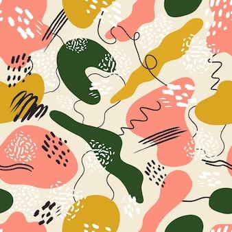 멤피스 스타일과 추상 원활한 패턴 배경