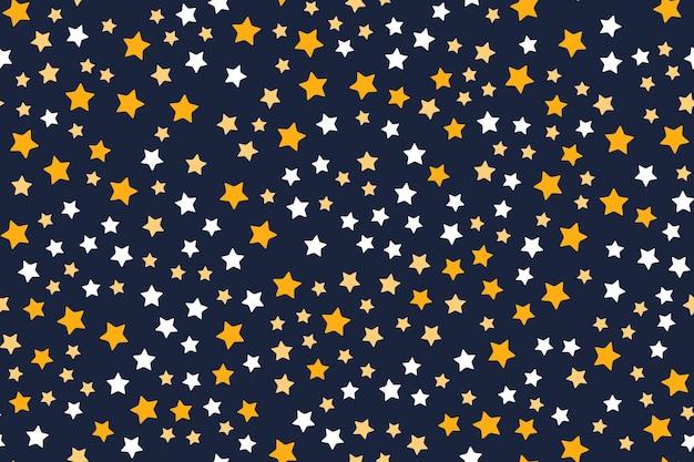 星と抽象的なシームレスパターンの背景。ベクトルイラストeps10