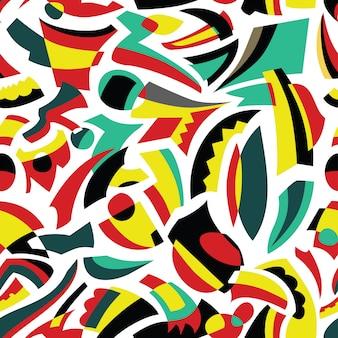 抽象的なシームレスなパターンデザイン