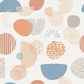 テキスタイルプリントの抽象的なシームレスパターン