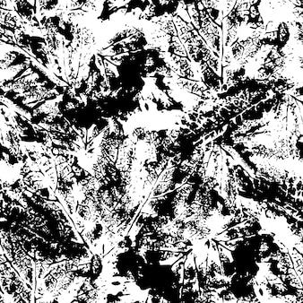 Абстрактный бесшовный паттерн в черно-белом