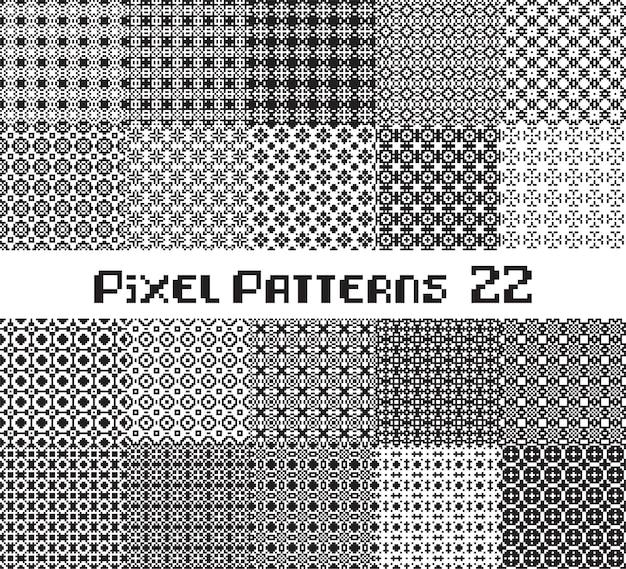 Абстрактный бесшовный паттерн в пиксельном стиле